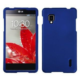 Asmyna LGLS970HPCSO203NP Titanium Premium Durable Rubberized Protective Case for LG Optimus G CDMA LS970   1 Pack   Retail Packaging   Dark Blue Cell Phones & Accessories