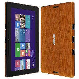 Skinomi� TechSkin   Asus Transformer Book T100 Screen Protector + Light Wood Full Body Skin Protector / Front & Back Premium HD Clear Film / Ultra High Definition Invisible and Anti Bubble Crystal Shield with Free Lifetime Replacement Warranty   Retail