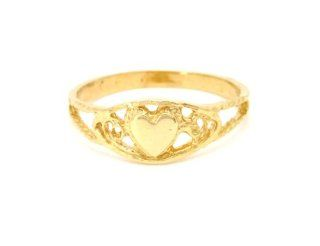 14K Yellow Gold Heart Ring Jewelry