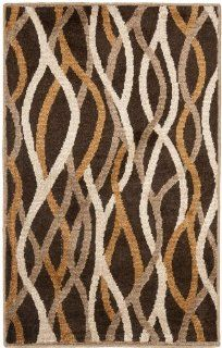 Safavieh KAS117A Kashmir Collection Area Rug, 3 Feet by 5 Feet, Brown   Machine Made Rugs