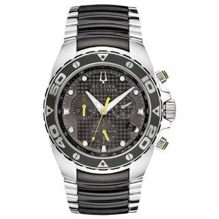 Accutron Curacao Black Dial Chronograph Two tone Steel Mens Watch 65B138 at  Men's Watch store.