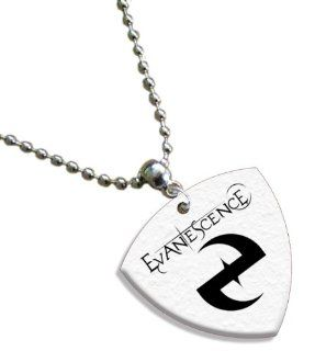 Evanescence Chain / Necklace Bass Guitar Pick Both Sides Printed Musical Instruments