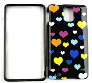 Samsung Infuse 4G i997 Multi Hearts on Black Hard Case/Cover/Faceplate/Snap On/Housing/Protector Cell Phones & Accessories
