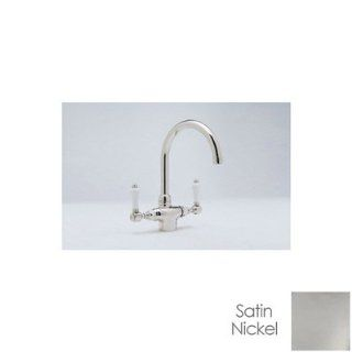 Rohl Country Single Post Kitchen Faucet A1676LPWSSTN 2 Satin Nickel   Plumbing Equipment