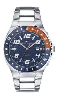 Tommy Hilfiger Men's 1790535 Navy/Red Bezel Watch Watches