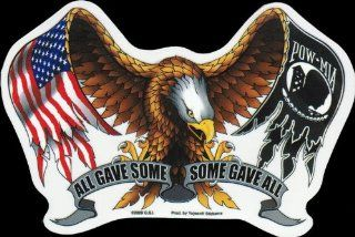 Hot Leathers   All Gave Some and Some Gave All American Eagle   Sticker / Decal Automotive