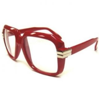 Red Run DMC Glasses   Clear Retro Glasses Clothing
