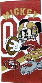 "San Francisco 49ers NFL Disney Mickey Mouse Qb Beach Towel 30"" X 60"""