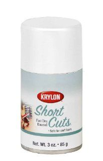 Krylon KSCS055 Short Cuts Aerosol Spray Paint, 3 Ounce, Flat White