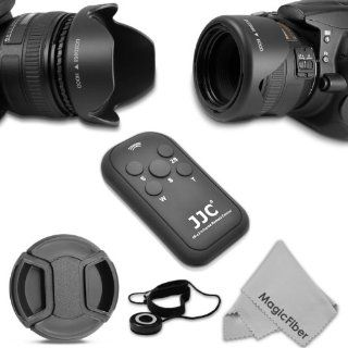 58MM Accessory Kit for CANON REBEL (T5i T4i T3i T2i XT XTi Xsi), CANON EOS (700D 650D 600D 550D 500D) DSLR Cameras   Includes Reversible Petal Lens Hood + IR Wireless Remote Control (RC 6, RC 1 Replacement) + Center Pinch Lens Cap w/ Cap Keeper Leash + Ma