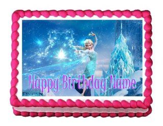 Edible Cake Topper Frozen Elsa 31 Personalizable