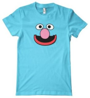 Sesame Street Series   Grover Face American Apparel T Shirt Clothing