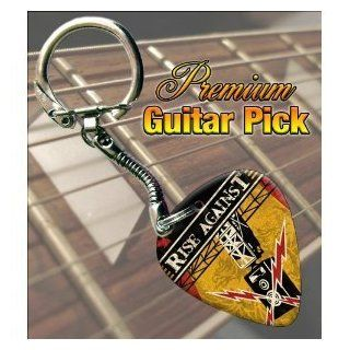 Printed Picks Company Rise Against Siren Song Guitar Pick Keyring Musical Instruments