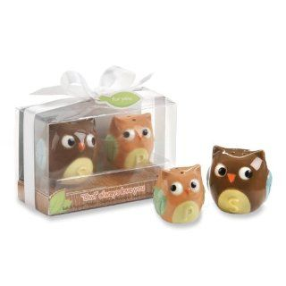 Kate Aspen Ceramic Mother and Baby Bird Salt and Pepper Shakers, Owl Always Love You Baby