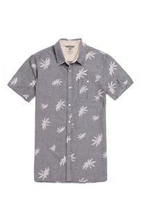 Mens Vans Shirts   Vans La Palma Short Sleeve Woven Shirt