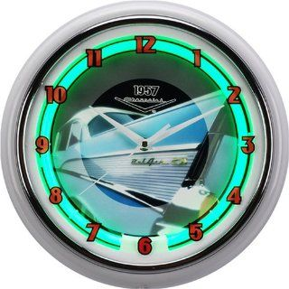 Chevy 57 Neon Wall Clock, Mustang & Ford Neon Clocks Also Available Kitchen & Dining