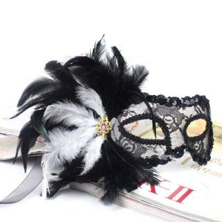 Nobility of the Middle Ages Anta also Venetian mask black and white Halloween / school festival / party / masquerade black skeleton from today (japan import) Toys & Games