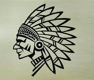 Indian Chief Head Version 101 Wall Decal Sticker Mural Art Graphic Kid Boy Room