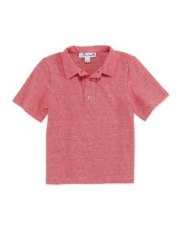 Striped Cotton Polo Shirt, Red, 2Y 10Y   Busy Bees