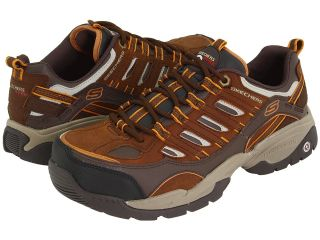 SKECHERS Work Sparta S R   Safety Toe Mens Industrial Shoes (Brown)