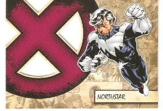 2011 Marvel Beginnings X Men Die Cut #X33 Northstar (Insert Card)(Non Sport Comic Trading Cards)(Upper Deck   Series 1) Toys & Games