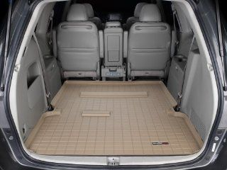 WeatherTech Custom Cargo Liner Trunk Mat   Honda Odyssey   2005 2010   Tan   Behind 2nd Row Automotive