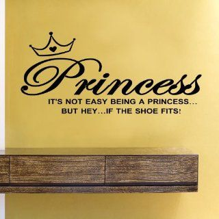 It's not easy being a princessbut hey If the shoe fits Vinyl Wall Decals Quotes Sayings Words Art Decor Lettering Vinyl Wall Art Inspirational Uplifting  Nursery Wall Decor  Baby