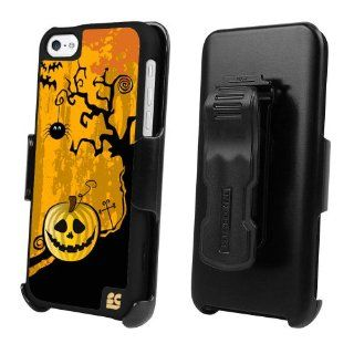 Beyond Cell Halloween Special 3 in 1 Kombo Case & Holster Belt Clip Combo with 3in1 Combo for Apple Iphone 5C Lite   Pumpkin     Cell Phones & Accessories
