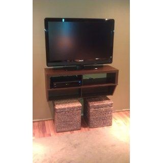 "Espresso 42"" Wide Wall Mounted AV Console   Series 9 Designer Collection   Audio Video Furniture"