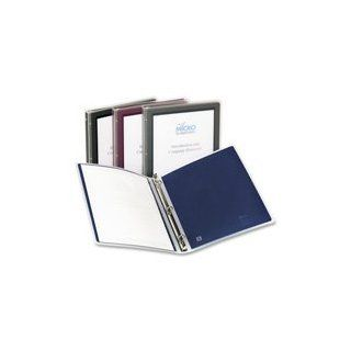 "Flexi View Binder with Round Rings, 1/2"" Capacity, Burgundy, Sold as 1 Each"