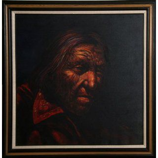 Art Portrait of a Native American Man  Oil  Jorge Braun Tarallo