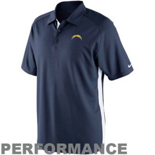 Nike San Diego Chargers Coaches II Sideline Performance Polo   Navy Blue