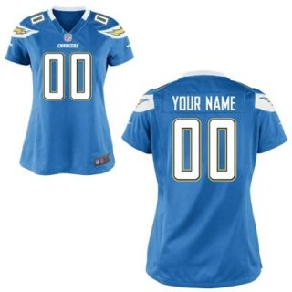Nike Womens Customized San Diego Chargers Alternate Game Jersey
