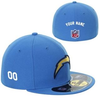 New Era San Diego Chargers Mens Customized On Field 59FIFTY Football Structured Fitted Hat