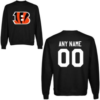 Cincinnati Bengals Mens Custom Any Name & Number Crewneck Sweatshirt