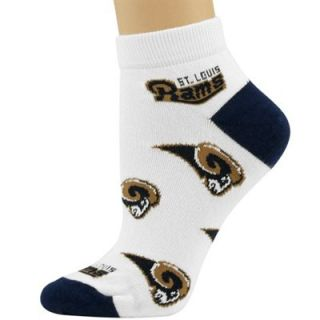 St. Louis Rams Ladies White All Over Team Logo Ankle Socks