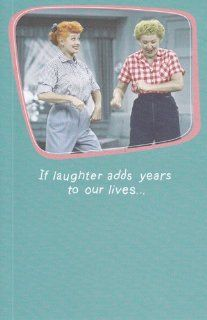 "Greeting Card Birthday I Love Lucy ""If Laughter Adds Years to Our Lives"" Health & Personal Care"