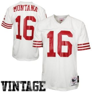 Mitchell & Ness Joe Montana San Francisco 49ers 1989 Authentic Throwback Jersey   White