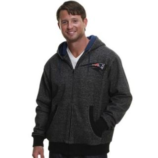 Pro Line New England Patriots Big & Tall Trailblazer Full Zip Hoodie   Black