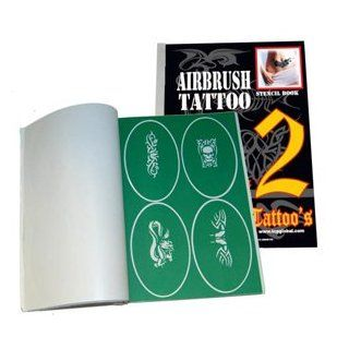 Master Airbrush� Brand Airbrush Tattoo Stencils Set Book #2 Reuseable Tattoo Template Set, Book Contains 100 Unique Stencil Designs, All Patterns Come on High Quality Vinyl Sheets with a Self Adhesive Backing. Beauty