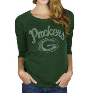 Junk Food Green Bay Packers Ladies Field Goal Fleece Sweatshirt   Green