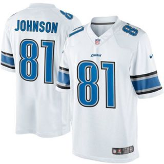 Nike Calvin Johnson Detroit Lions Limited Jersey   White