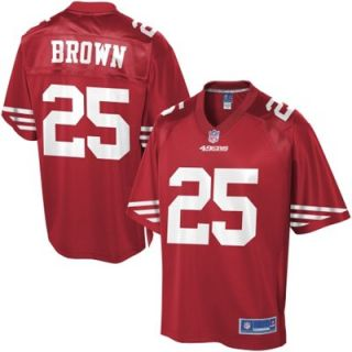 Pro Line Mens San Francisco 49ers Tarell Brown Team Color Jersey
