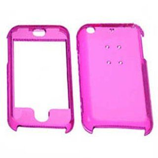 Hard Plastic Snap on Cover Fits Apple iPhone Transparent Hot Pink AT&T (does NOT fit Apple iPhone 3G/3GS or iPhone 4/4S or iPhone 5/5S/5C) Cell Phones & Accessories