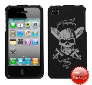Hard Plastic Snap on Cover Fits Apple iPhone 4 4S Pirate Skull Reflex Plus A Free LCD Screen Protector AT&T, Verizon (does NOT fit Apple iPhone or iPhone 3G/3GS or iPhone 5/5S/5C) Cell Phones & Accessories