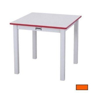 Square Laminate Table Color Orange, Size 14""