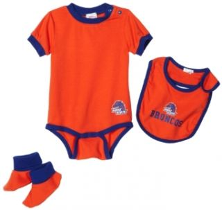 NCAA Infant/Toddler Boys' Boise State Broncos Bib & Bootie Set (Orange, 12 Months)  Infant And Toddler Sports Fan Apparel  Sports & Outdoors