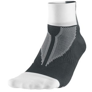 Nike Hyper Lite Elite Running Quarter Socks   Running   Accessories   White/Anthracite