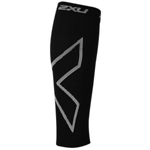 2XU Recovery Compression Calf Sleeves   Running   Sport Equipment   Black Jaquard