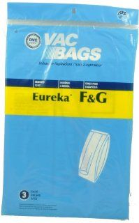 Eureka F & G Bags, DVC Replacement Brand, designed to fit Eureka Upright Vacuum Cleaners except 7000 Series and Models 210, 1212, and 1401, will also fit White Westinghouse Upright Models using bag Style VIP 1020, 3 bags in pack   Household Vacuum Bags